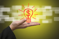χρήματα καινοτομίας Στοκ Φωτογραφία