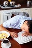 человек сонный Стоковые Фото