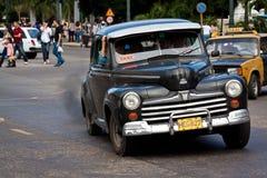 美国汽车经典哈瓦那老街道 免版税图库摄影