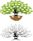 фамильное дерев дерево Стоковая Фотография