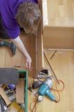Плотник на работе Стоковая Фотография