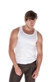 人肌肉年轻人 库存图片