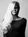 壮观美丽的头发的夫人 库存照片