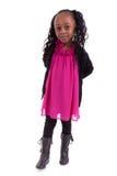 非洲裔美国人的女孩微笑的一点 库存照片