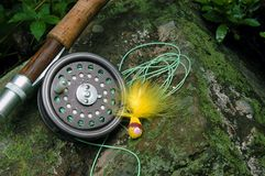 αλιεύοντας μύγα Στοκ εικόνες με δικαίωμα ελεύθερης χρήσης