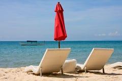 海滩热带的柬埔寨 免版税库存图片
