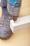 Плотник на работе Стоковое фото RF