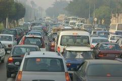 交通堵塞在开罗 库存图片