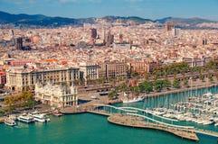 ορίζοντας της Βαρκελώνης Στοκ Φωτογραφία