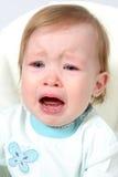 девушка крупного плана младенца плача Стоковая Фотография