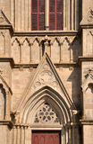 天主教教会外部部分和详细资料  图库摄影