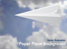 纸飞机 免版税图库摄影