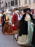 威尼斯式中世纪的游行 免版税库存图片