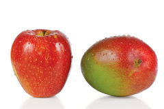 яблоко падает свежая вода мангоа Стоковое Фото