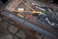 κιμωλία κιβωτίων Στοκ εικόνα με δικαίωμα ελεύθερης χρήσης