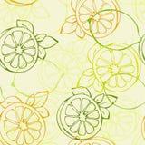картина лимона безшовная Стоковое Изображение