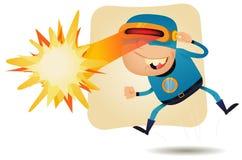 Головка лазерного луча - шуточный супергерой Стоковое Изображение