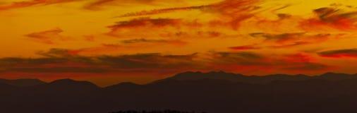 аппалачский светлый заход солнца гор теплый Стоковое Фото