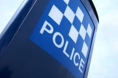 警察签署英国 免版税库存照片