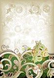 Абстрактная зеленая флористическая предпосылка Стоковые Изображения