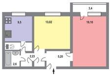 Σχεδιάγραμμα ενός σύγχρονου σπιτιού Στοκ Φωτογραφία