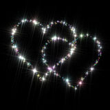 Звезды очарования сердец Стоковое Изображение