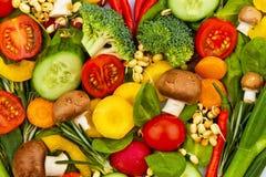 重点由蔬菜做成。 健康吃 免版税图库摄影