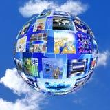 Принципиальная схема интернета Стоковая Фотография RF
