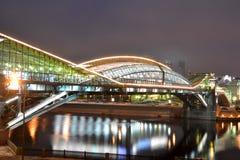 晚上城市横向 免版税库存图片