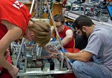 青少年竞争第一科学的技术 免版税库存图片