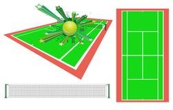 设计要素网球 库存图片