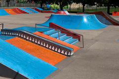 公园冰鞋 图库摄影