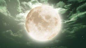 在夜空的月亮 免版税库存照片