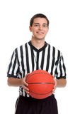 青少年篮球的裁判 库存照片