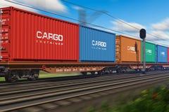 φορτηγό τρένο εμπορευματοκιβωτίων φορτίου Στοκ φωτογραφίες με δικαίωμα ελεύθερης χρήσης