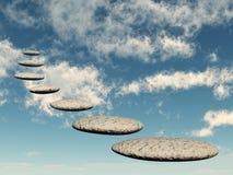 ουρανός βράχου μονοπατιών μορφής Στοκ Εικόνα