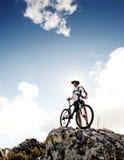 στάση υπολοίπου ποδηλατών Στοκ φωτογραφία με δικαίωμα ελεύθερης χρήσης
