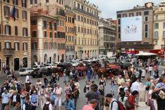 ισπανική πλατεία της Ρώμης Στοκ φωτογραφία με δικαίωμα ελεύθερης χρήσης