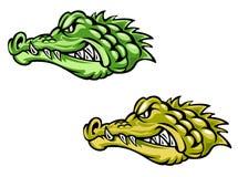коричневый зеленый цвет крокодилов Стоковые Фото