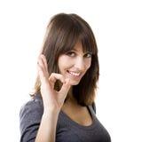 乐观妇女 免版税图库摄影