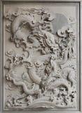 雕刻中国龙花岗岩石头 免版税库存照片