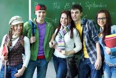 学习小组在教室 免版税库存照片