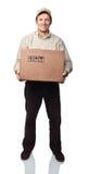 портрет работника доставляющего покупки на дом Стоковое Изображение RF