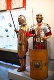 装甲的时装模特战士 免版税库存照片