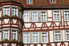 προσόψεων της Γερμανίας σπίτι που εφοδιάζεται με ξύλα μισό Στοκ εικόνες με δικαίωμα ελεύθερης χρήσης