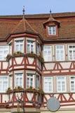 προσόψεων της Γερμανίας σπίτι που εφοδιάζεται με ξύλα μισό Στοκ Εικόνες