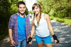 约会年轻 免版税库存图片