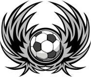足球模板翼 免版税库存照片
