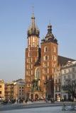 克拉科夫-圣玛丽-波兰的教会 库存图片