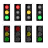 红绿灯集 免版税库存照片